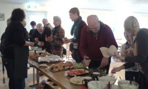 Matserveringen i Bygdegården blev mycket uppskattad.
