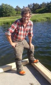 Lasse Linusson, nöjd bryggrenoverare