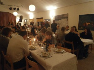 Många ville vara med på festen.